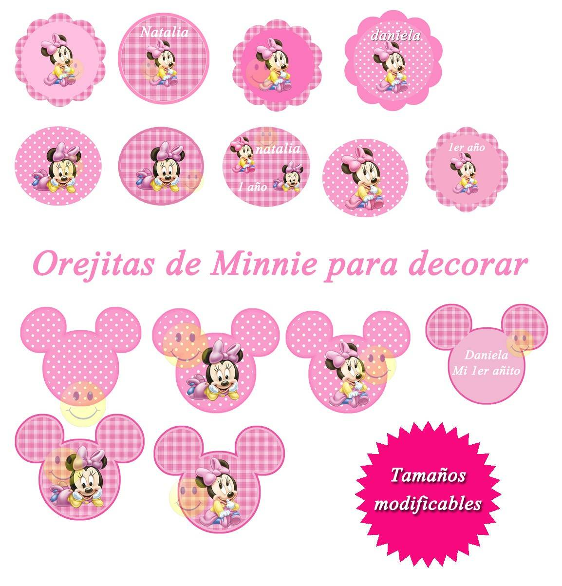 Kit Imprimible De Minnie Mouse Bebe - Diseña Tarjetas Y Mas ...