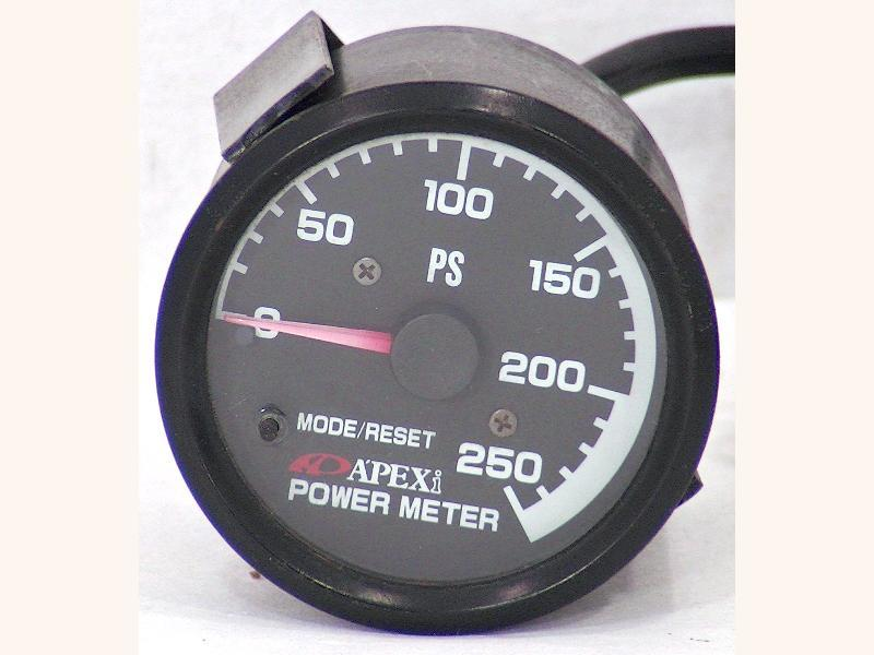 Apexi horse power meter 250PS meter 60mm gauge 180sx Supra Celic